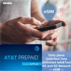 USA eSIM AT&T Prepaid daily-Unlimited 4G/5G Data, Calls, Texts-USA Nationawide coverage including, AK and and HI