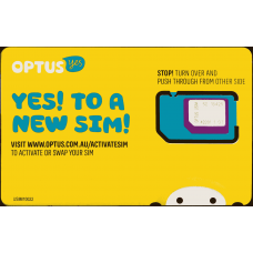 Australia SIM Card -28 Days Unlimited Calling, SMS + Internet Data (Optus Network)