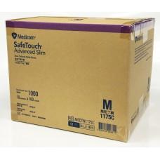 Medicom Nitrile Exam Gloves Blue Medium Size Powder Free Latex Free 1000pcs=10 boxes=1ctn Safetouch Advanced Slim 1175C