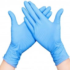 Nitrile gloves blue color Medicom disposable gloves powder free latex free large size 100 pcs