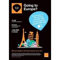 Orange Holiday Tourist SIM - Europe SIM