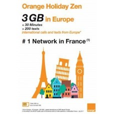 Orange Holiday Europe Prepaid SIM Card