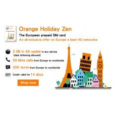 Orange Holiday Europe Prepaid SIM Card