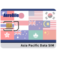 Asia Prepaid Data SIM Card 8 Days- China, Japan, Korea, Thailand, Hong Kong, Macao, Taiwan, Singapore, Malaysia