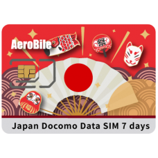 Japan Docomo Unlimited SIM - 7 Days Prepaid Data SIM Card