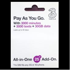 UK Three (telecom)  All in One SIM - Europe & Global SIM
