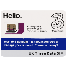 UK Three (telecom) SIM - Europe & Global Data SIM