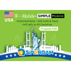 Simple Mobile SIM Unlimited Domestic Talk and Text, High Speed Data _student sims best choice