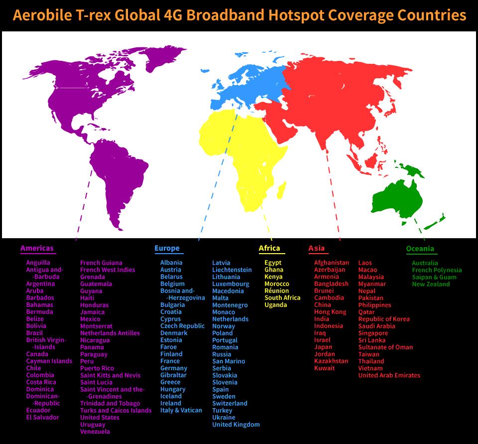 Aerobile T-rex 4G LTE Global Mobile Hotspot